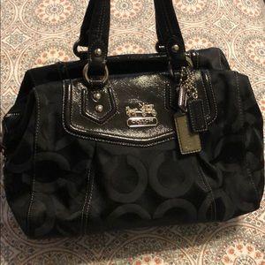Coach Madison Audrey black signature bag